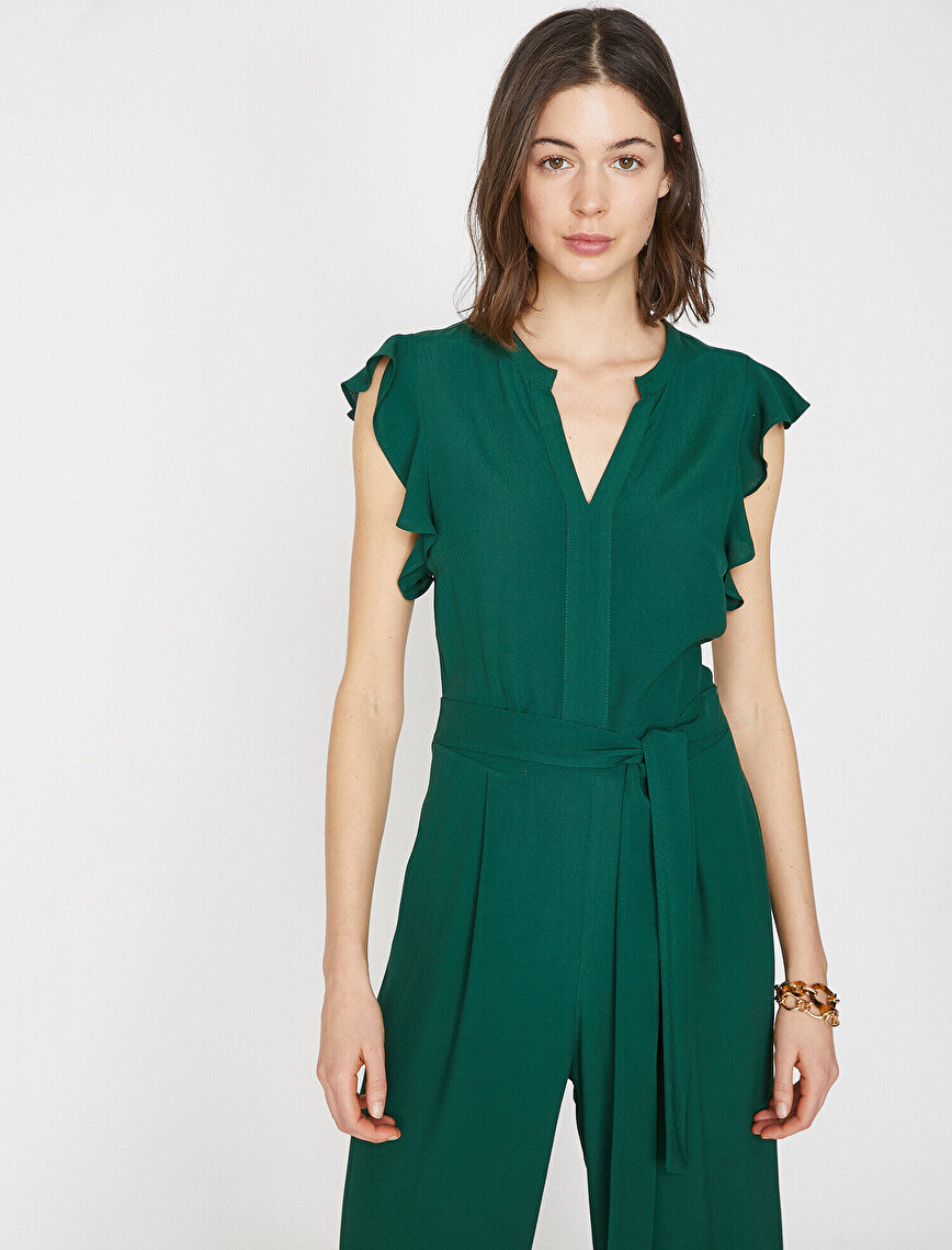 Frill Detailed Jumpsuit