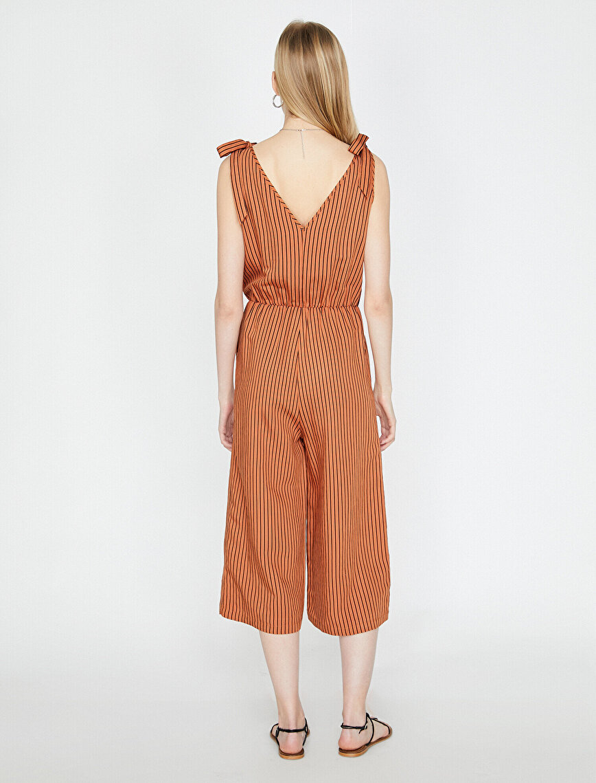 The Natural Look Jumpsuit - Doğal Dokulu Tulum