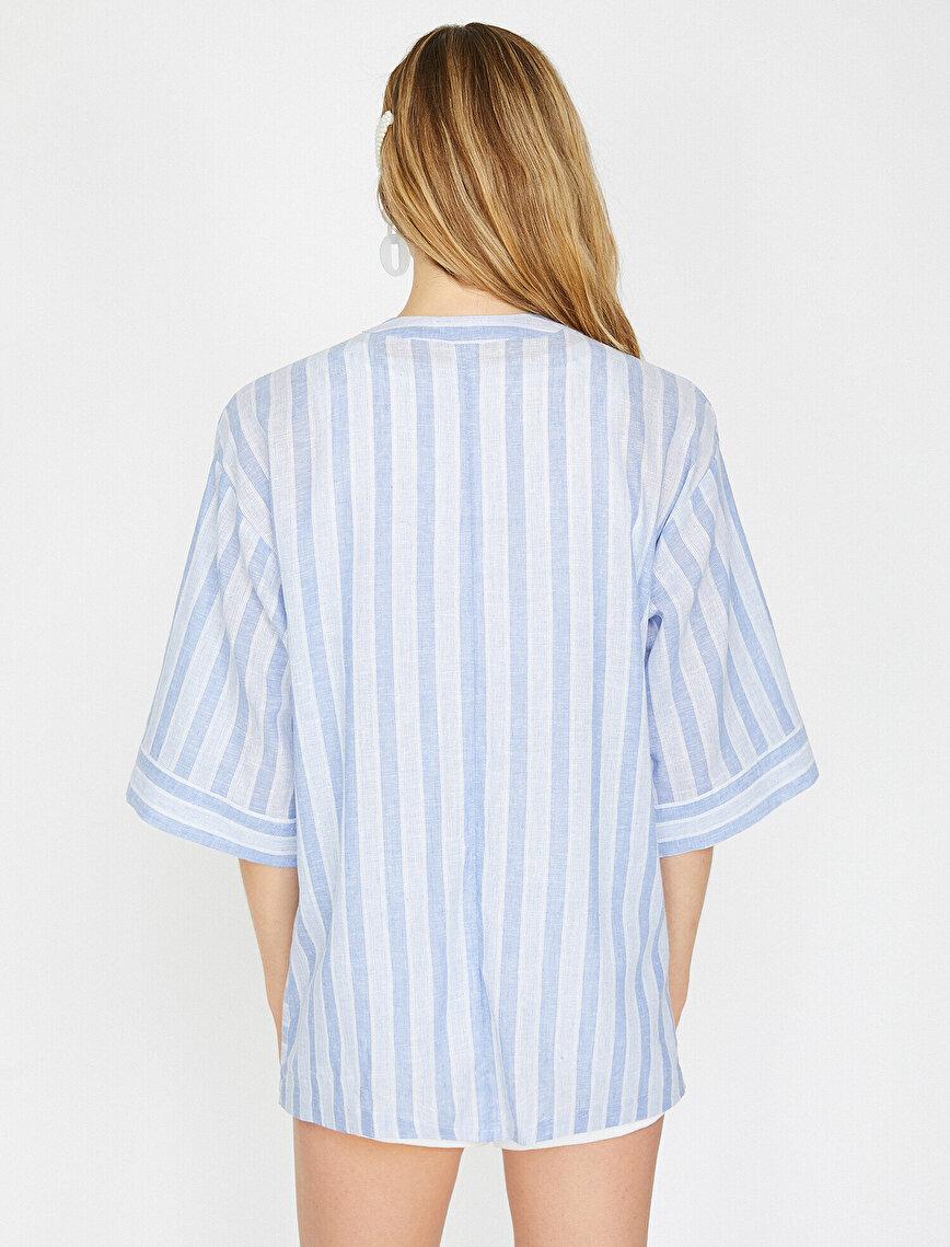 Çizgili Kimono