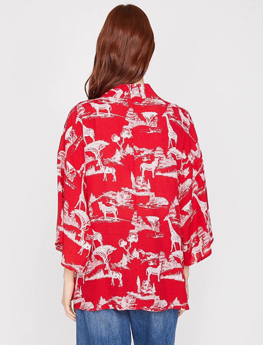 Desenli Kimono
