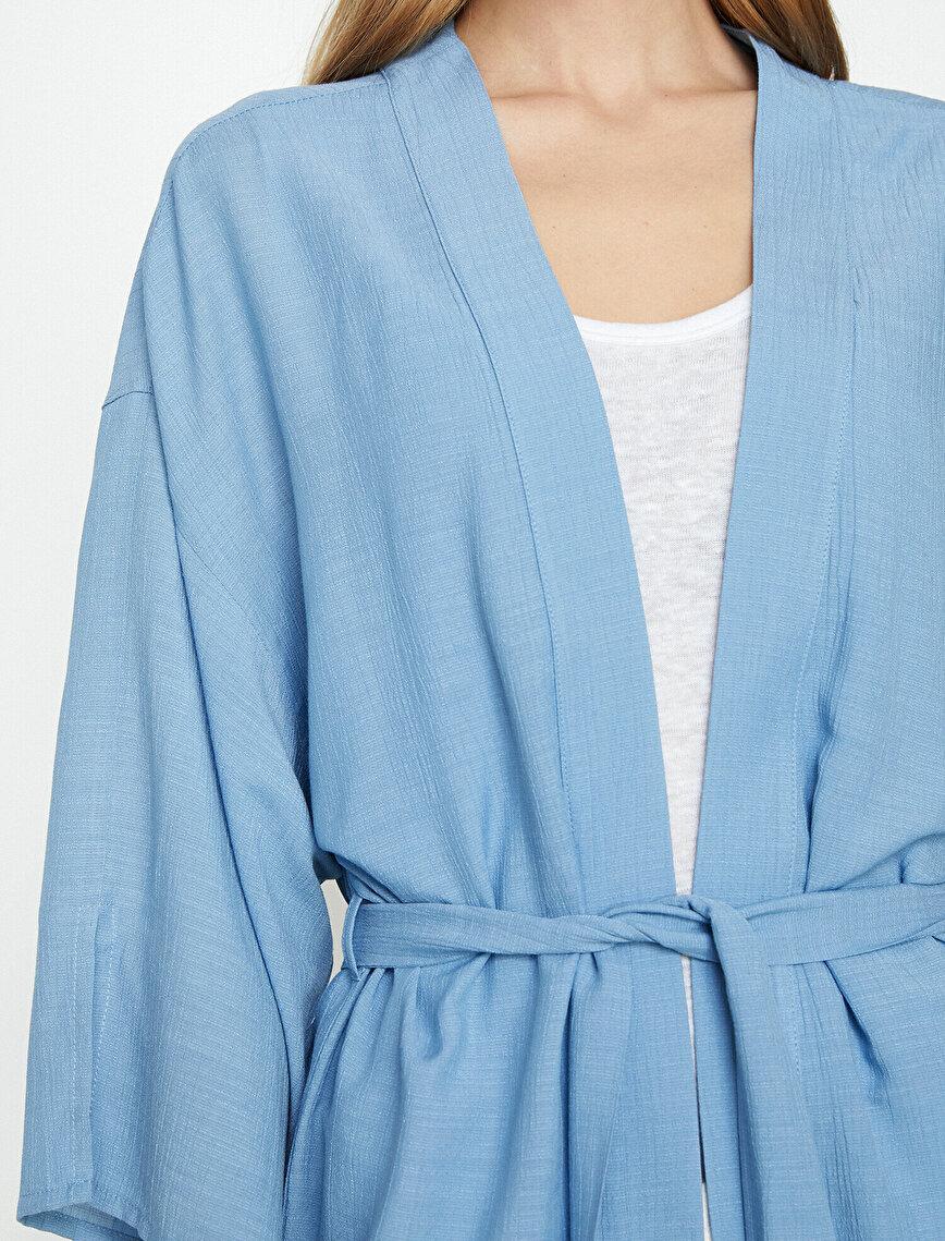 Beli Bağlamalı Kimono