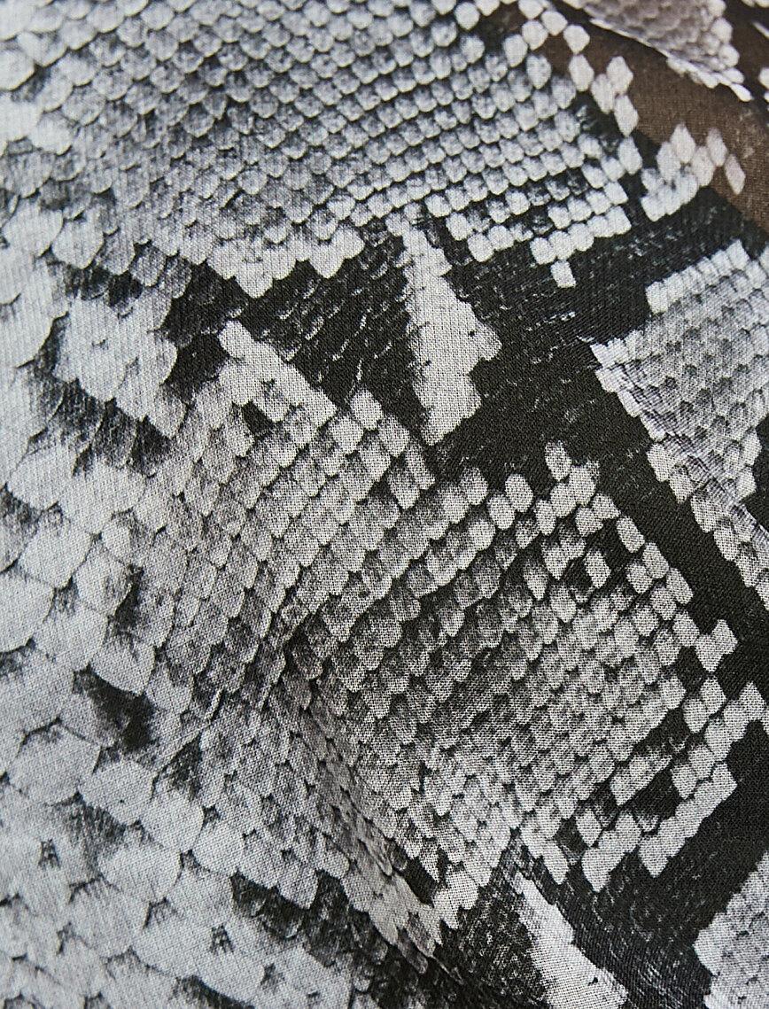 Snake Patterned Bustier