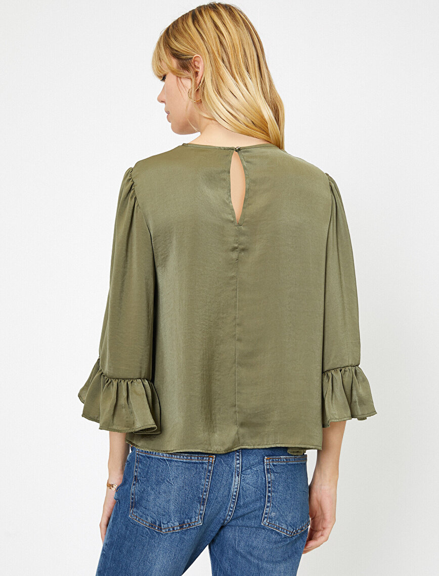 Sleeve Frilled Blouse