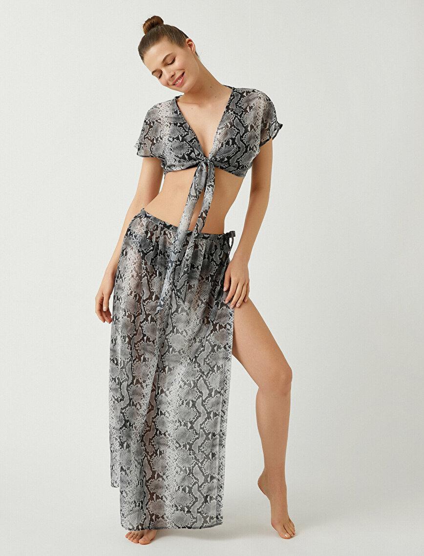 Snake Patterned Skirt