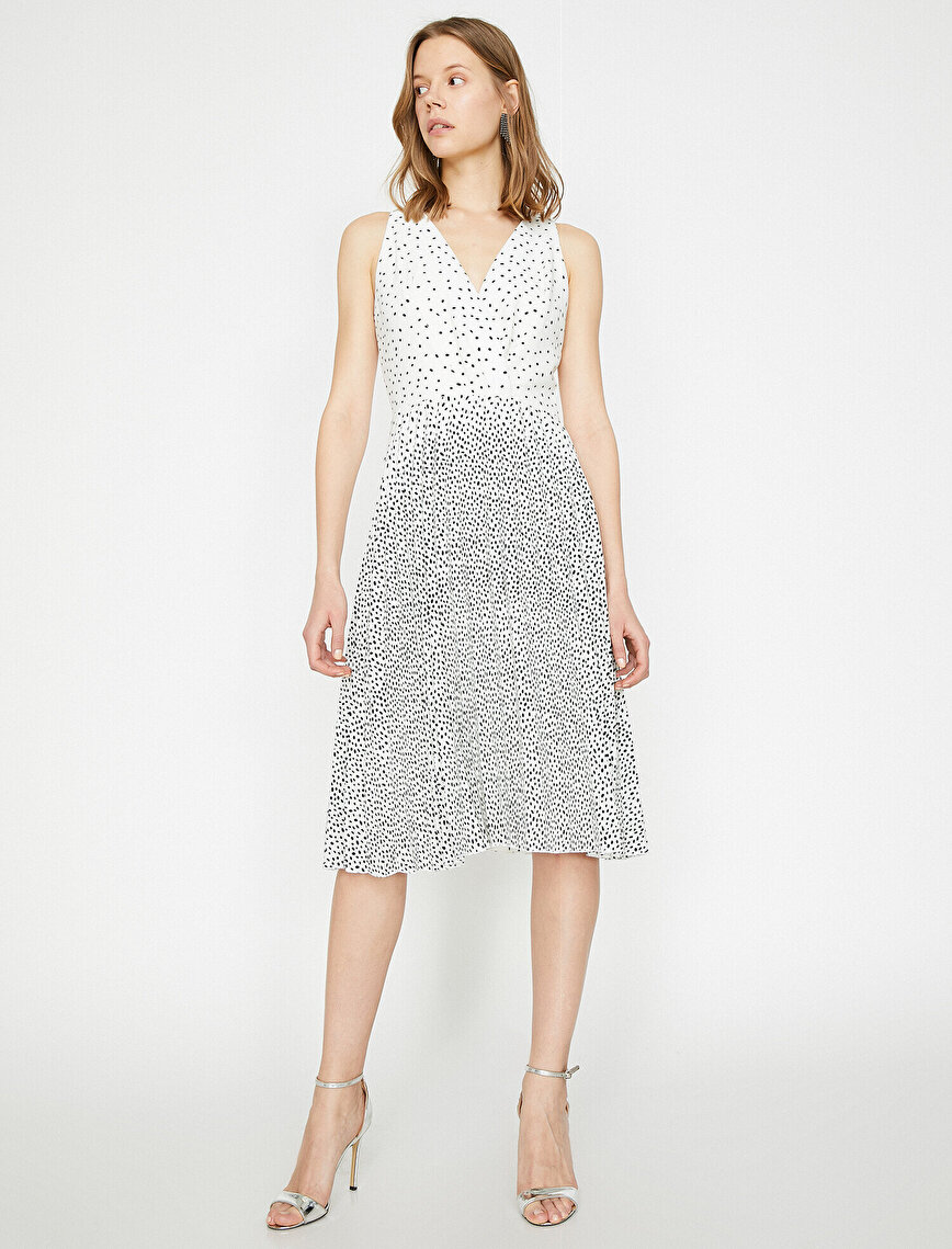 Printed Detailed Dress