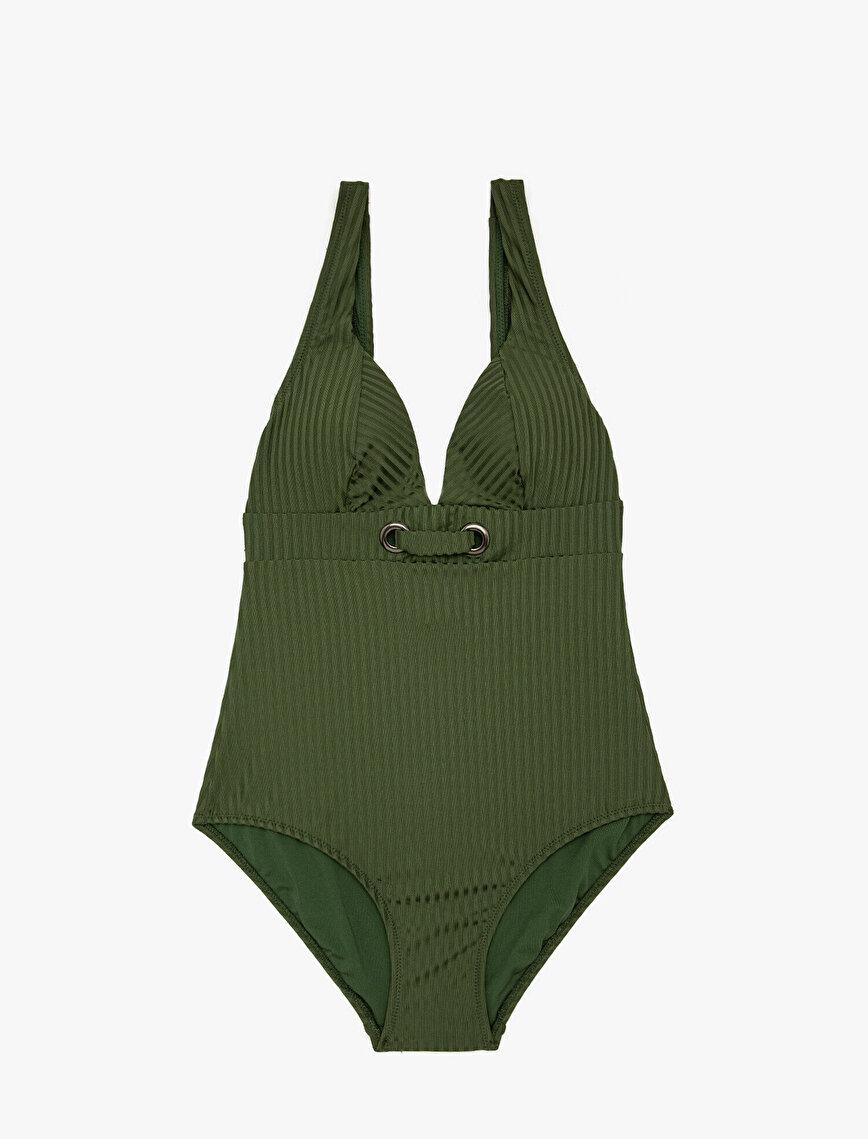 Eyeled Detailed Swimsuit