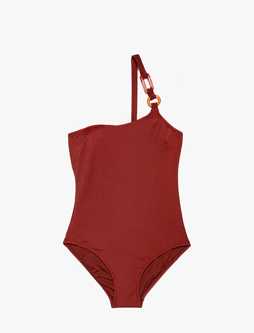 Clasp Detailed Swimsuit