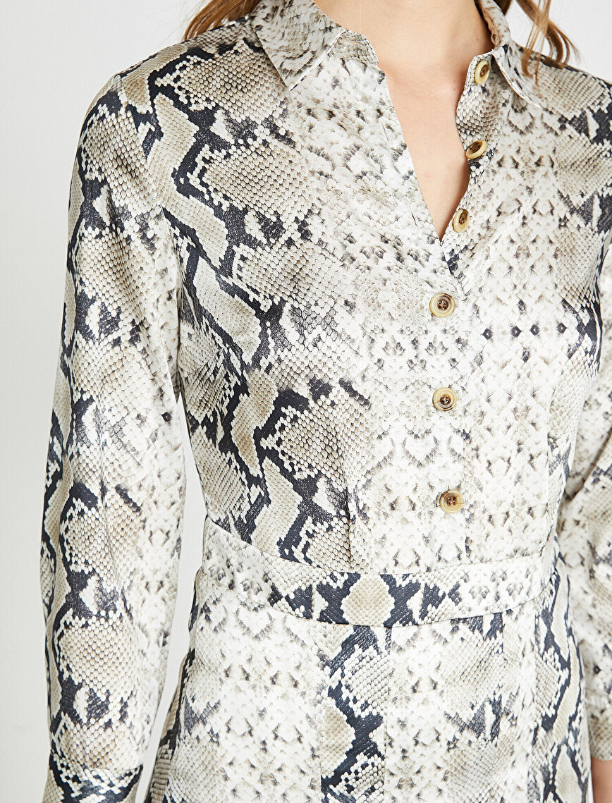 Snake Patterned Dress