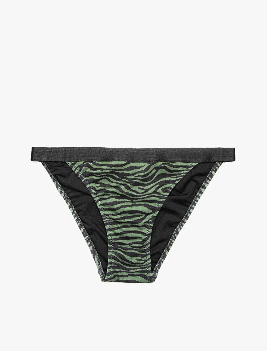Zebra Desenli Bikini Altı