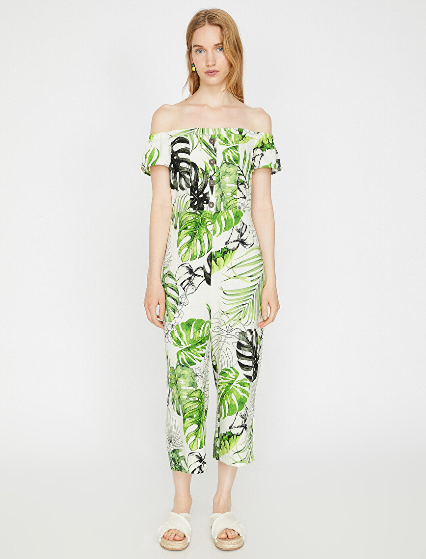 Floral Patterned Jumpsuits