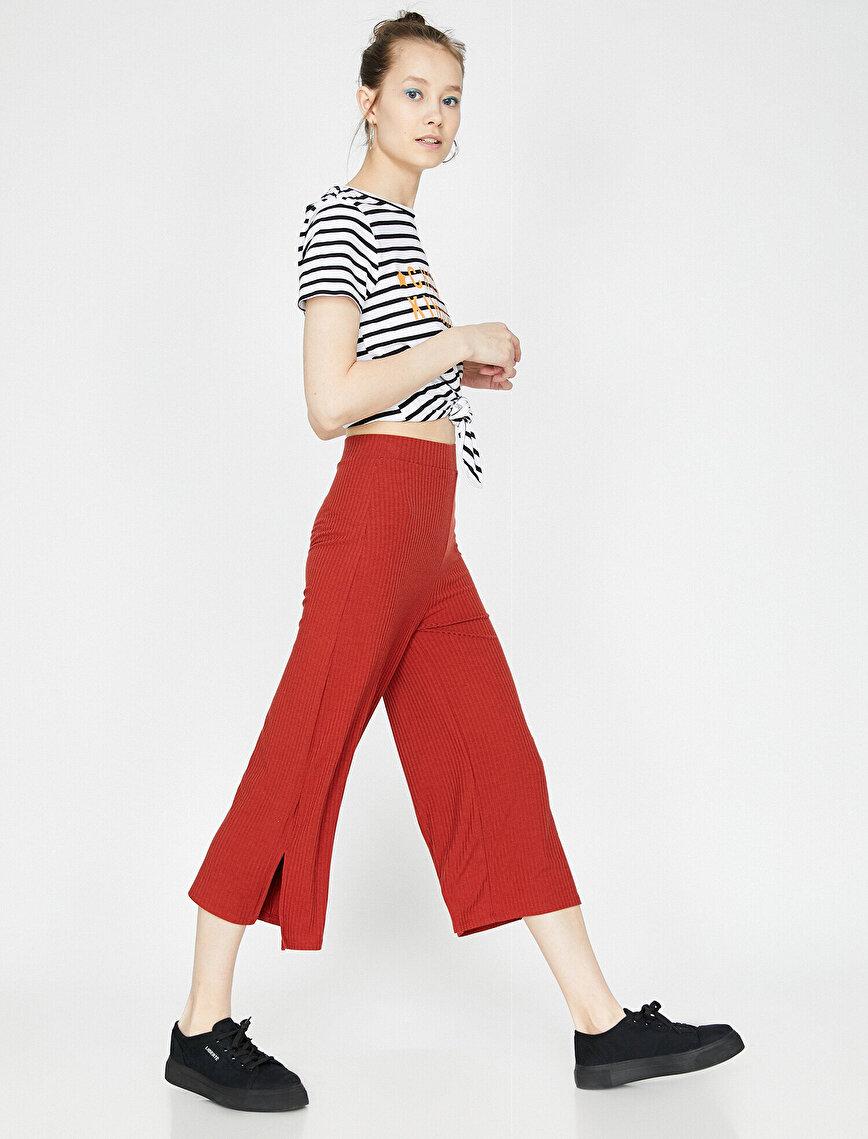 Yırtmaç Detaylı Pantolon