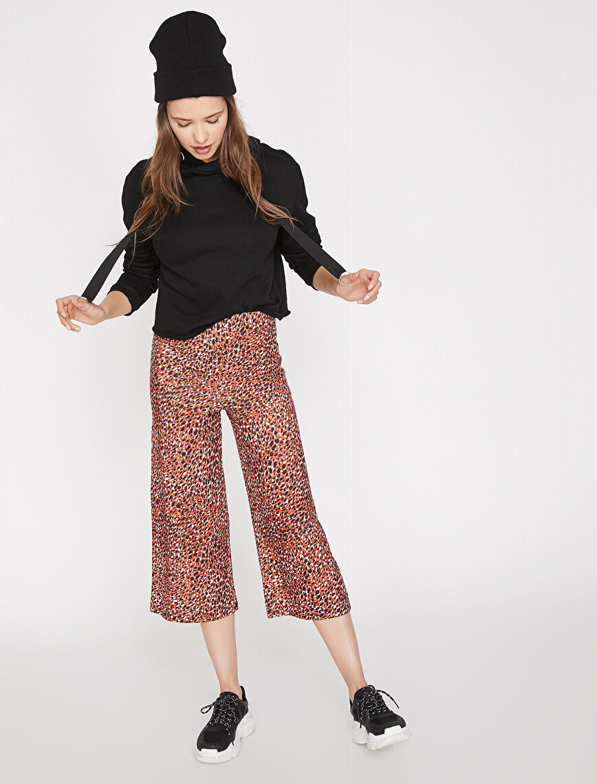 Leopard Patterned Trousers
