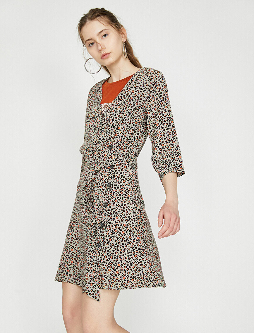 Leopard Patterned Dress