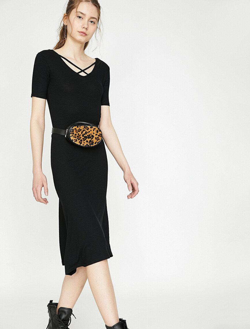 Neck Detailed Dress