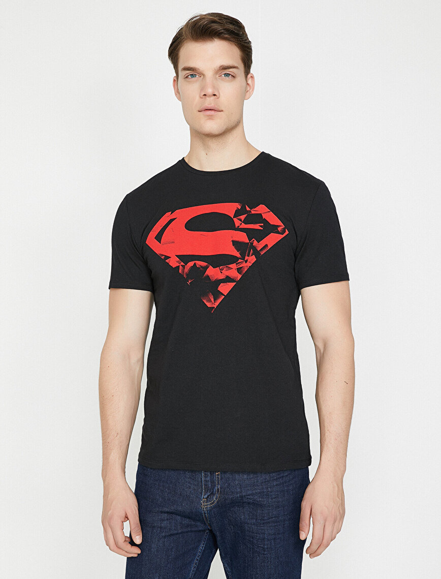 Superman Baskılı T-Shirt