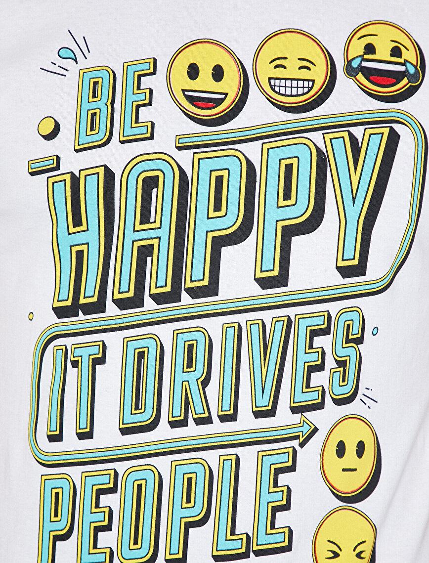 Emoji Lisanslı Baskılı T-Shirt