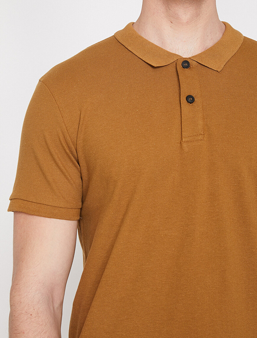 Polo Yaka Kısa Kollu Slim Fit Basic Tişört