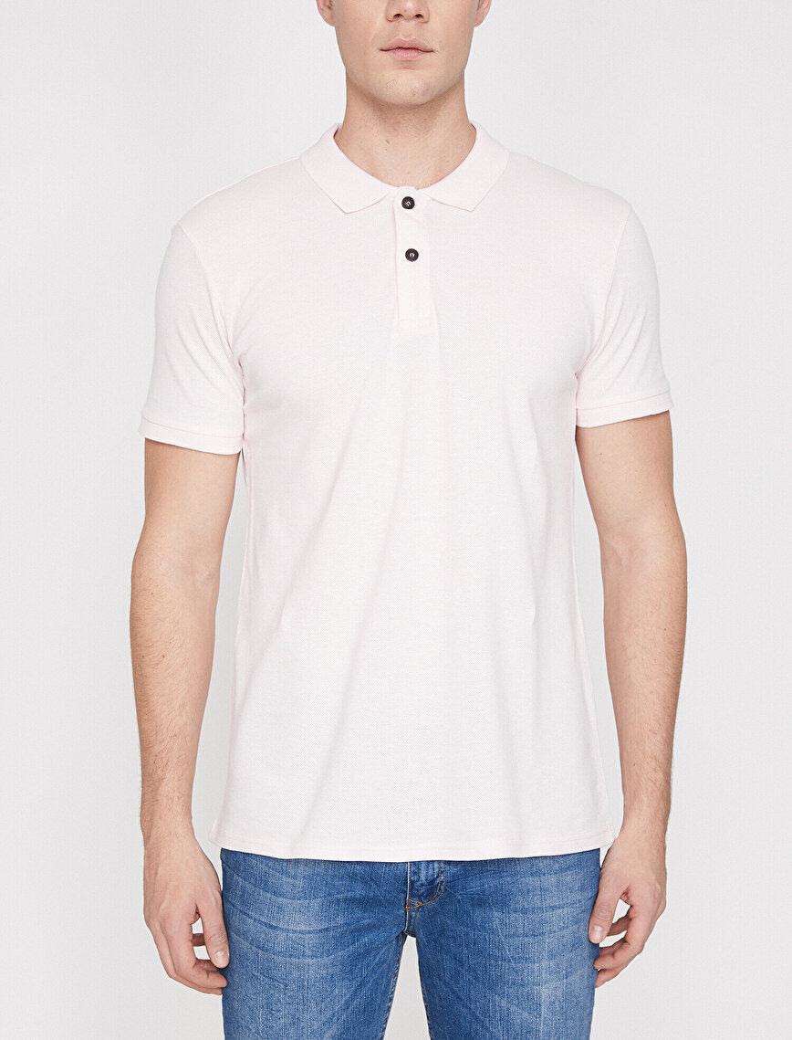 Polo Neck Short Sleeve Slim Fit T-Shirt