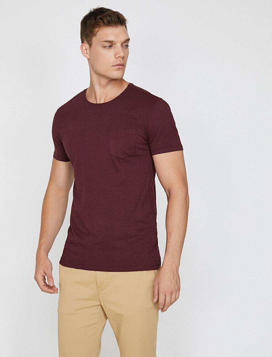 Cep Detaylı T-Shirt