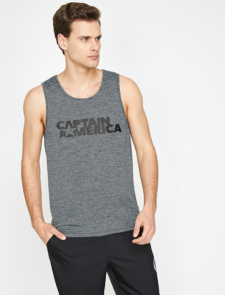 Captain America Printed Tank Top