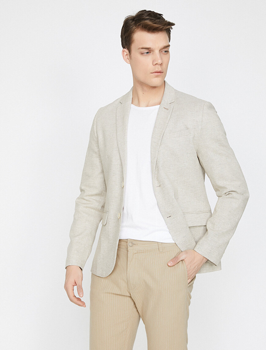 Pocket Detailed Blazer Jacket