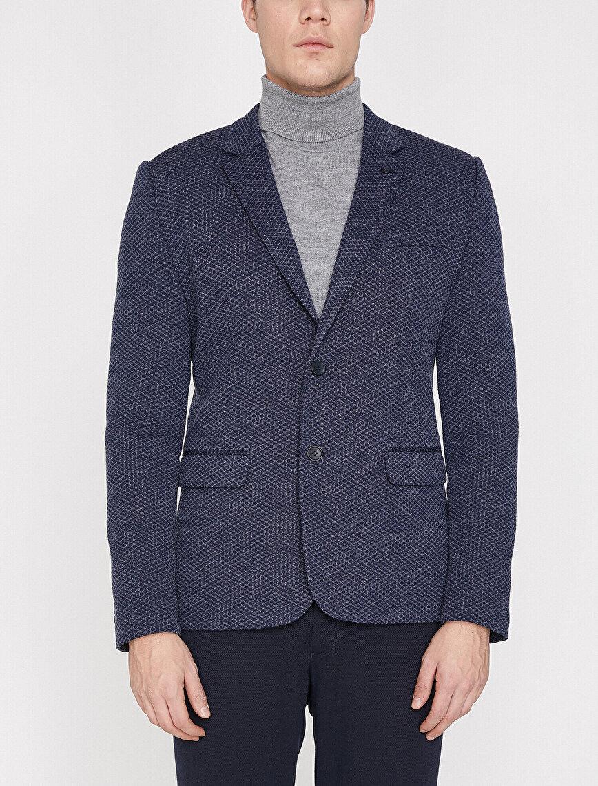 Patterned Blazer Jacket
