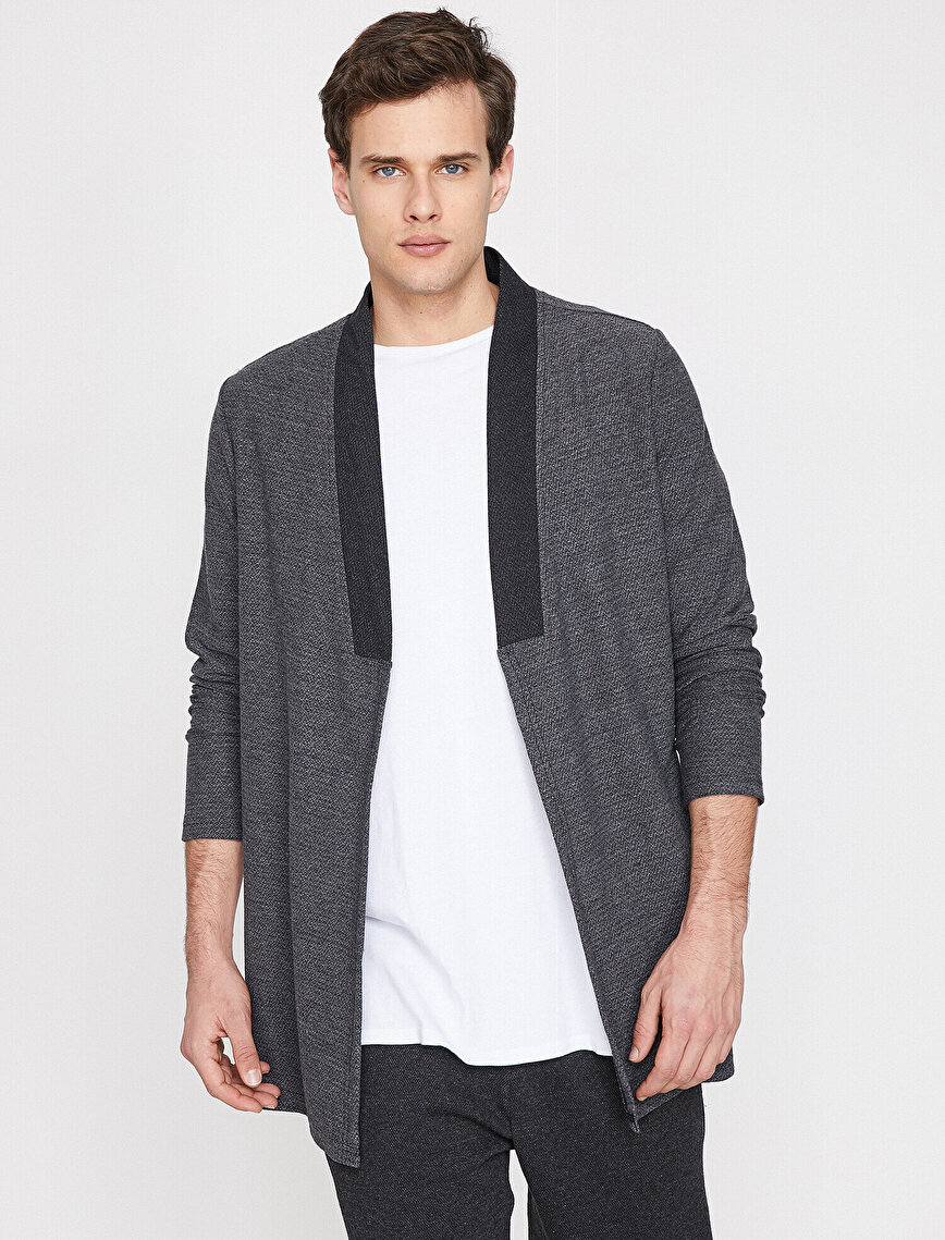 Neck Detailed Cardigan