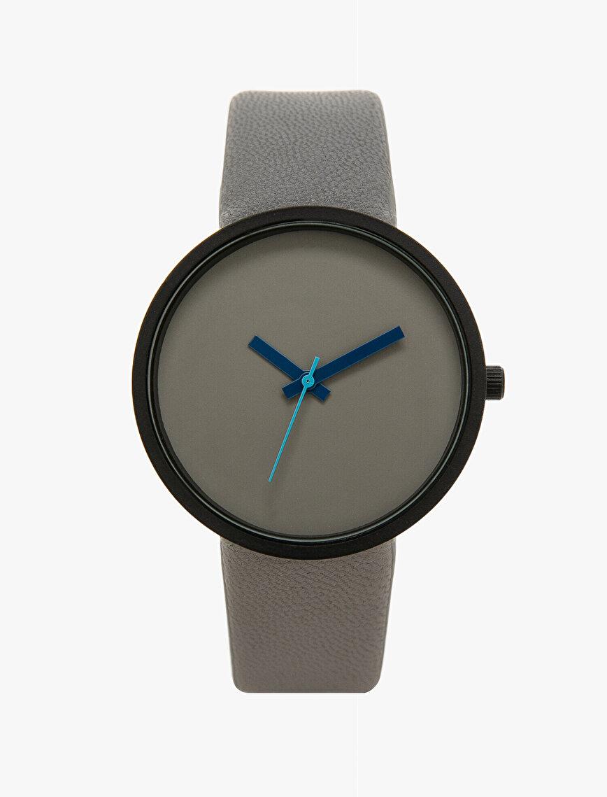Deri Görünümlü Saat