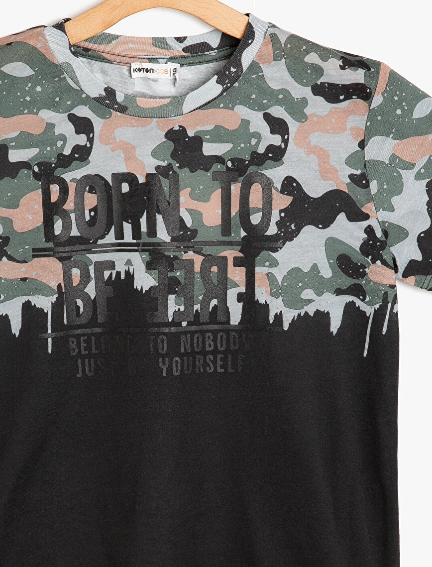 Camouflage Patterned T-Shirt