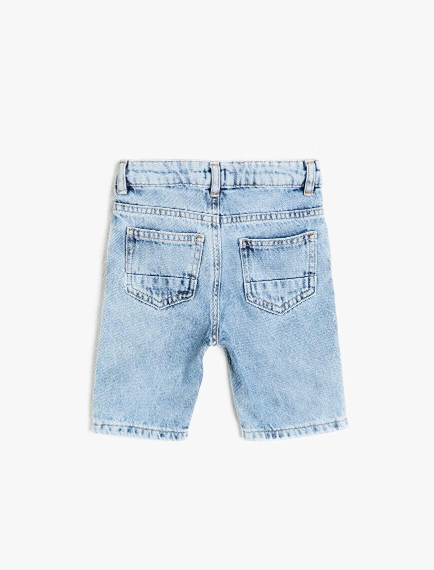 Pocket Detailed Jean Shorts