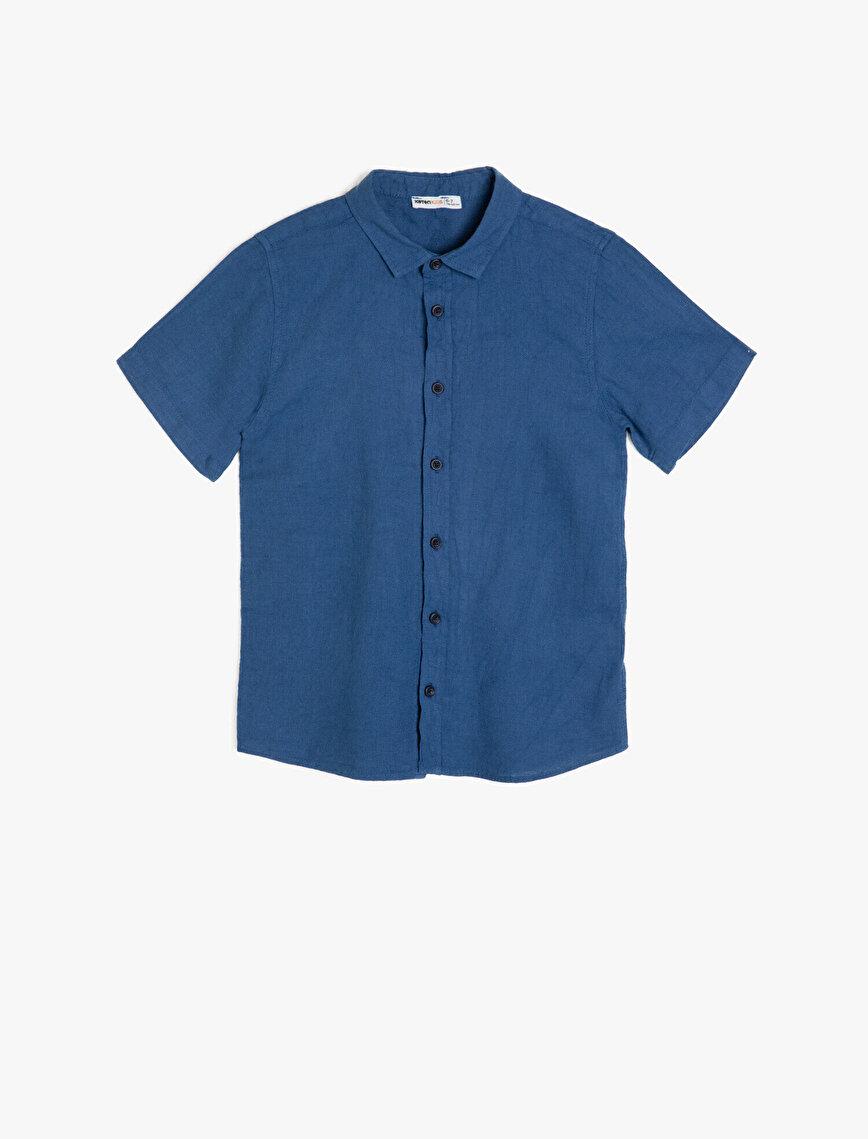 Basic Kısa Kollu Klasik Yaka Gömlek