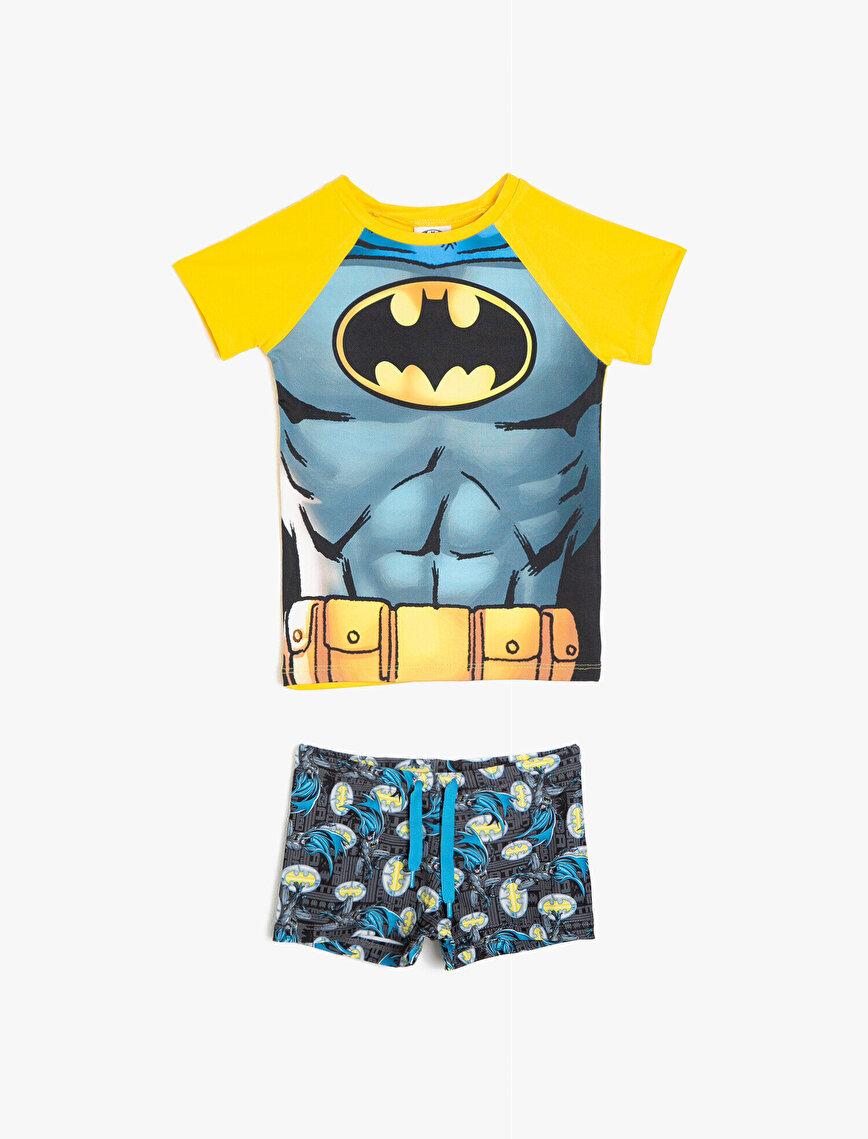 Batman Lisanslı T-Shirt Mayo