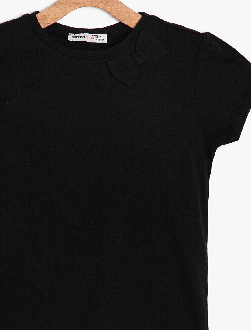 Fiyonk Detaylı T-Shirt