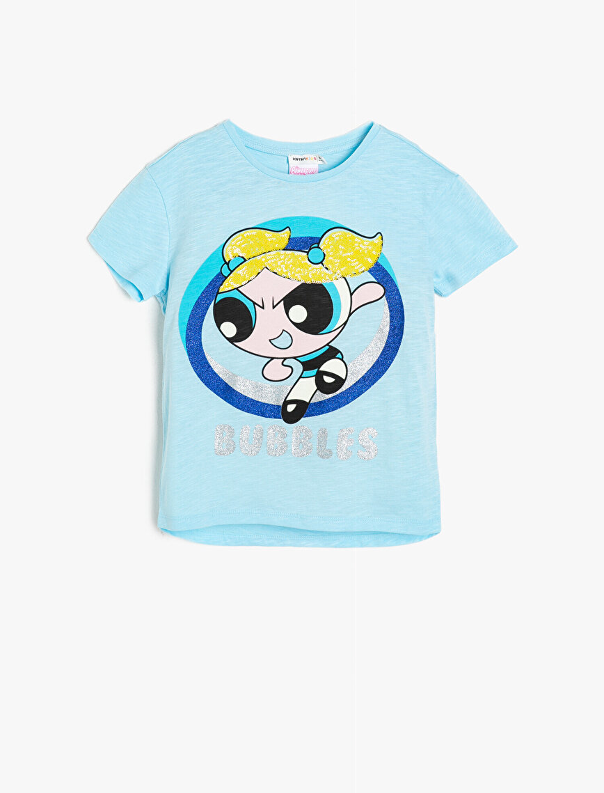 Powerpuff Girls Lisanslı Baskılı T-Shirt