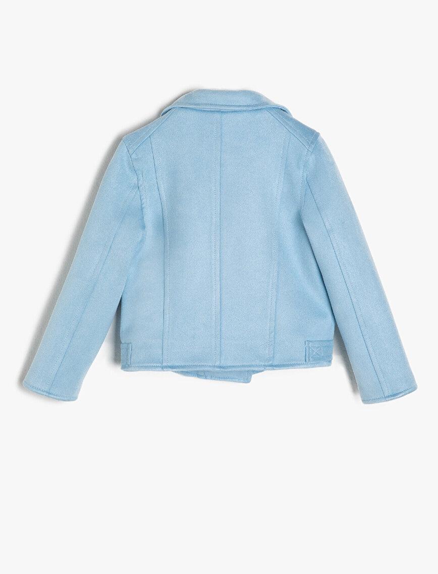 Suede Look Coat