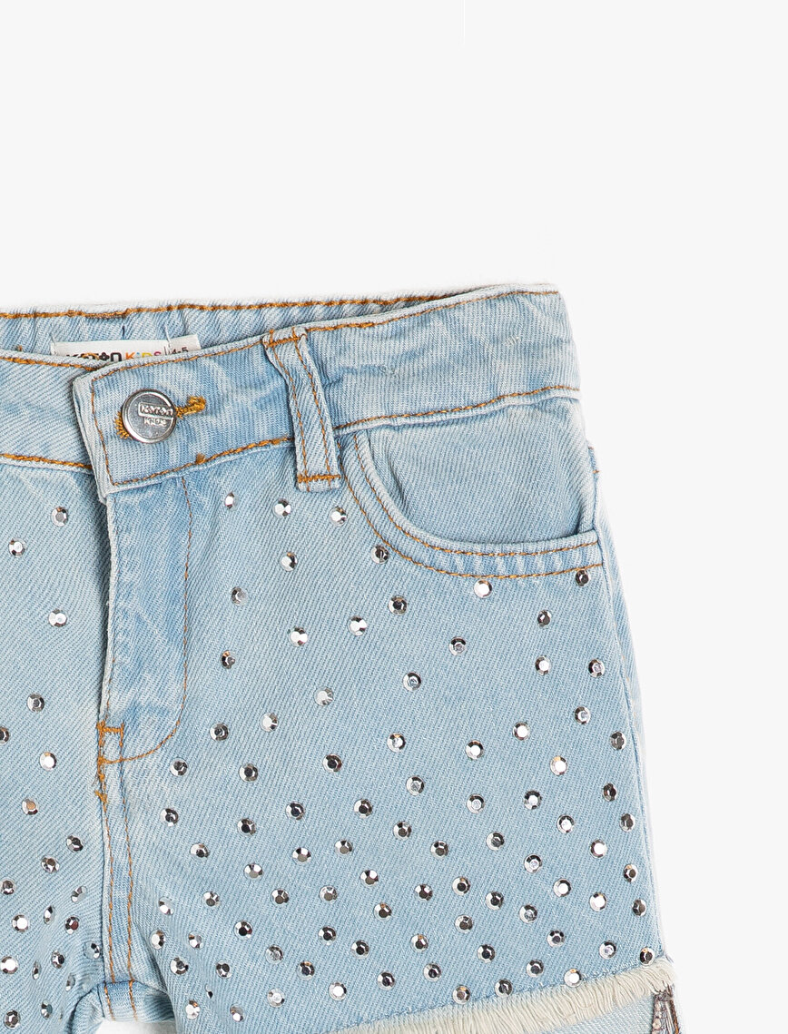 Embellished Jean Short