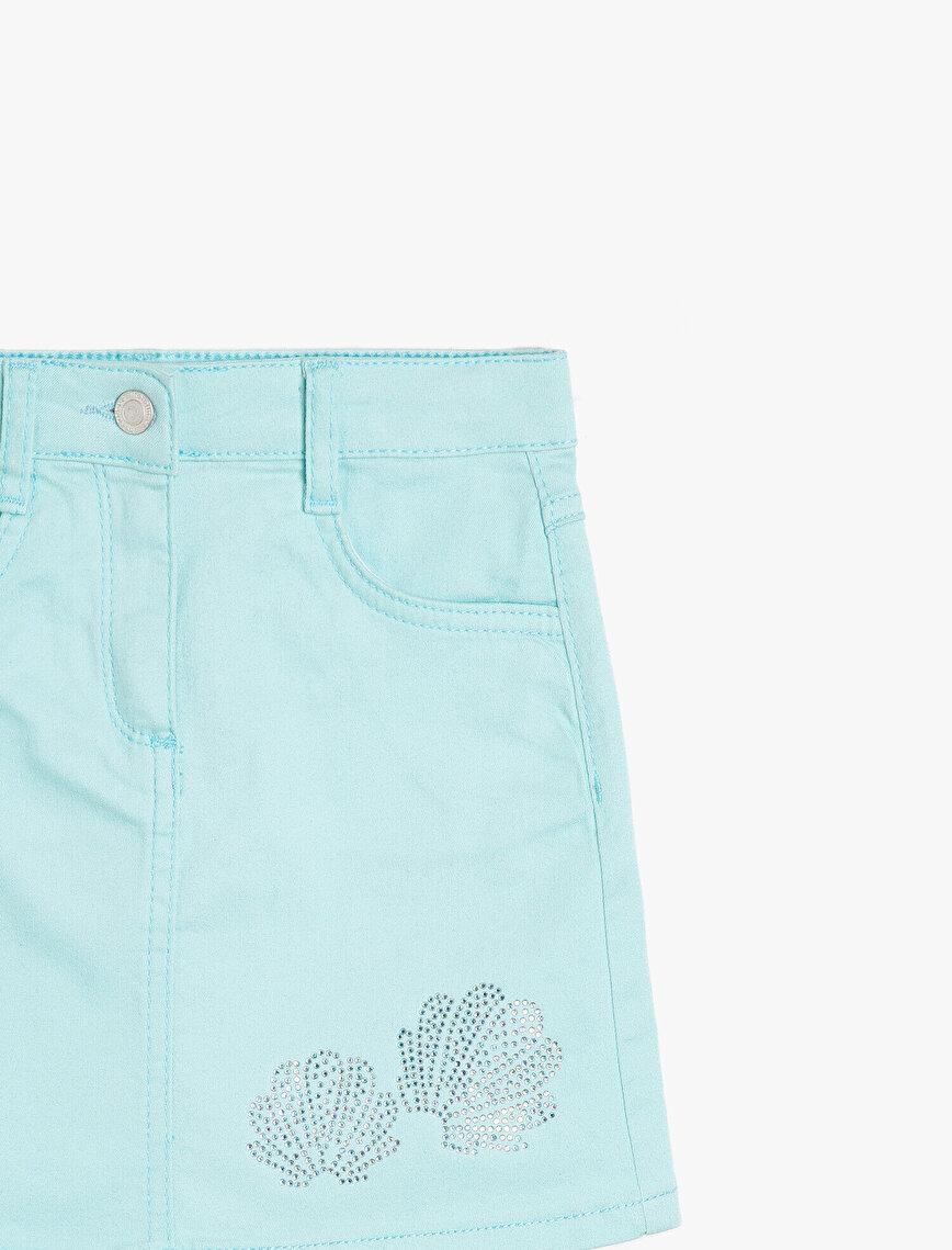 Stone Detailed Skirt