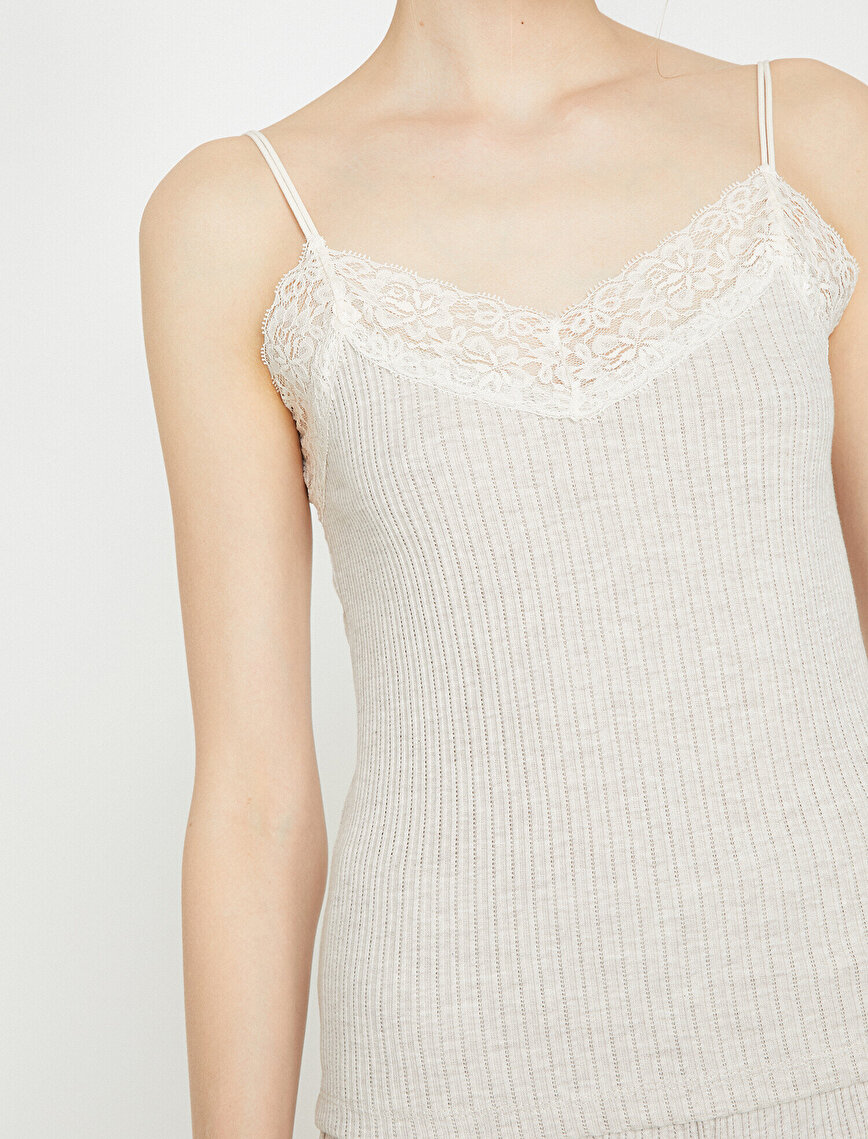 Lace Detailed Tank Top