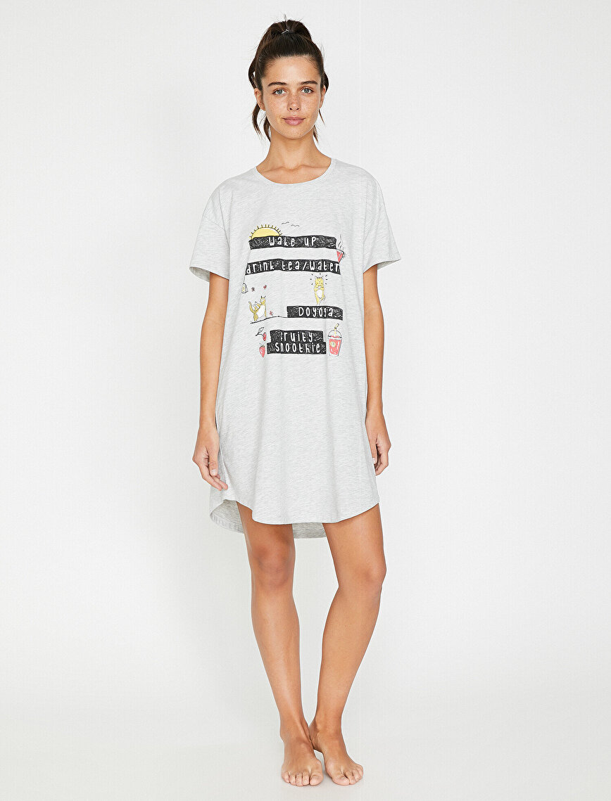 Letter Printed Nightdress
