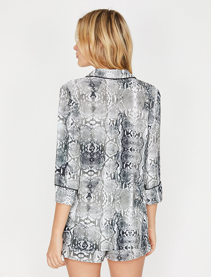 Patterned Pyjama Top