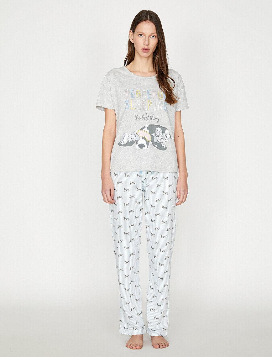 Letter Prited Pyjama Sets