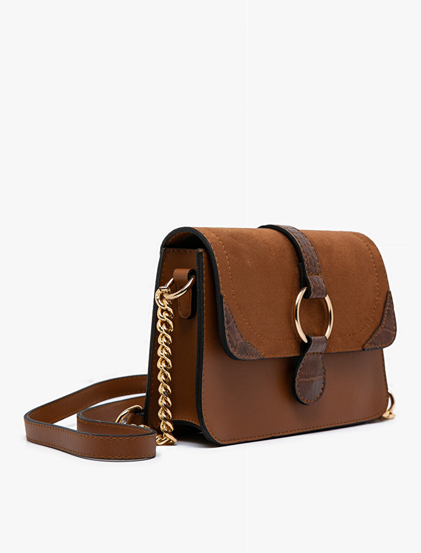 Suede Look Shoulder Bag