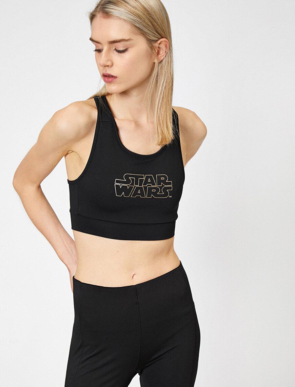 Star Wars Lisanslı Baskılı Spor Bra