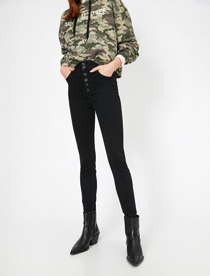 Taylor Jean - Ekstra Yüksek Bel Dar Kesim Dar Paça Pantolon