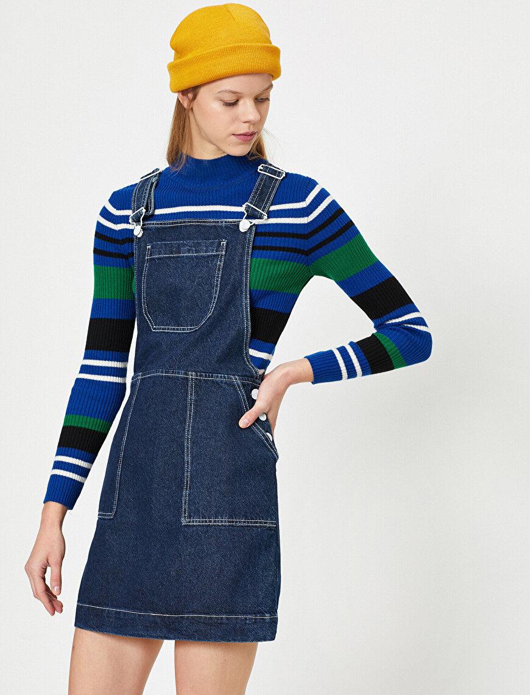 Pocket Detailed Jean Dress