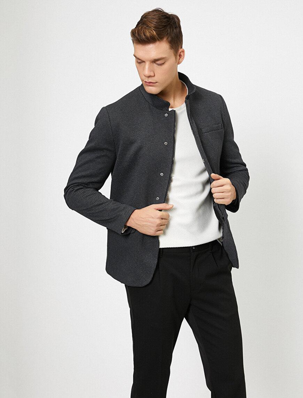 Fermuar Detaylı Ceket