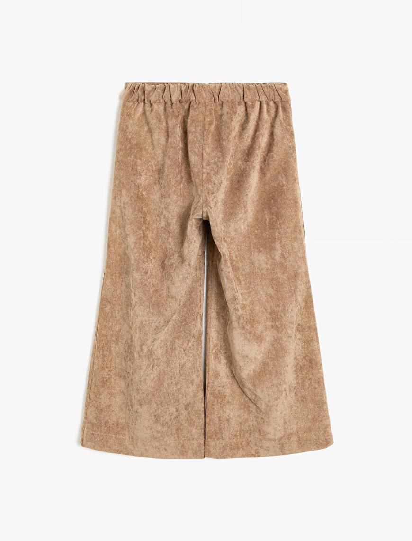 Süet Görünümlü Pantolon