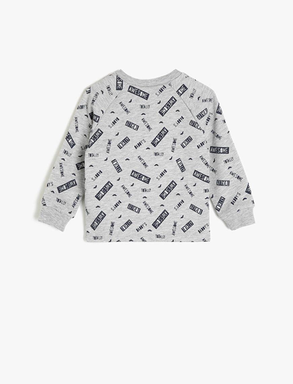 Button Detailed Sweatshirt