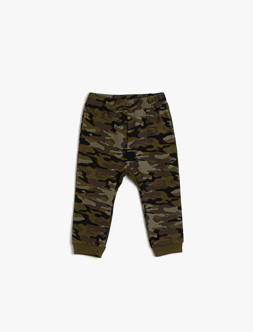 Camuflage Patterned Sweat Bottoms