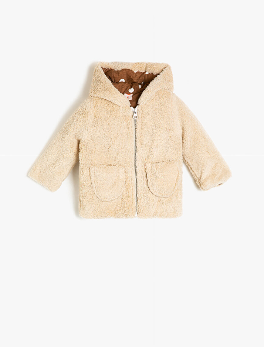 Hooded Plush Coat